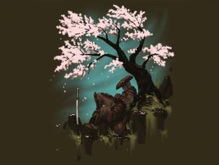 Camiseta del descanso del samurai