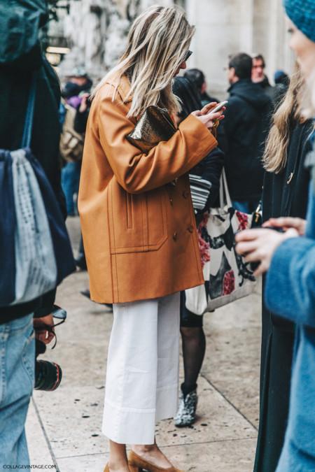 Pfw Paris Fashion Week Fall 2016 Street Style Collage Vintage Stella Mccartney Camille Loewe Clutch