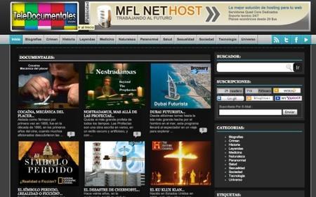 Teledocumentales, un sitio para ver cientos de documentales online
