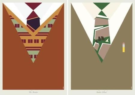 Muéstrame una ilustración de una corbata y te diré en que peli la llevó Leonardo Dicaprio