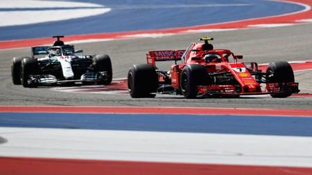 Raikkonen Hamilton Austin F1 2018