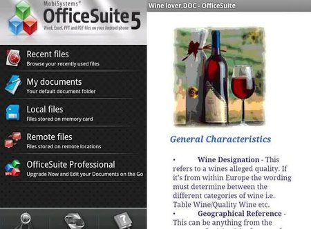 Visualiza tus documentos desde tu móvil con la aplicación OfficeSuite Viewer 5