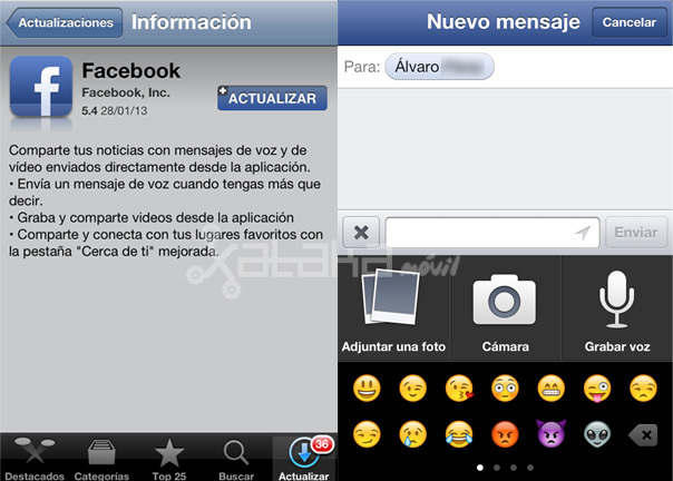 facebook 5.4 iOS