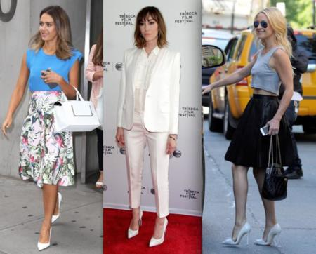zapatos blancos celebrities
