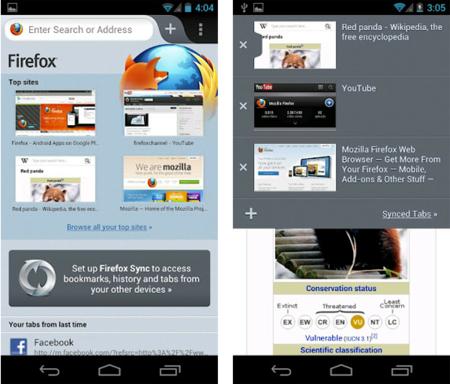 Firefox para Android sale de beta con mejoras en rendimiento y soporte Flash