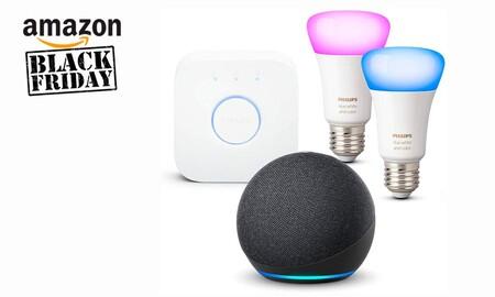 Black Friday 2020: este pack Echo Dot + Philips Hue de Amazon te permite iluminar y controlar las luces de tu casa por sólo 109,99 euros