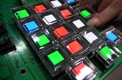 El teclado numérico del Optimus Maximus