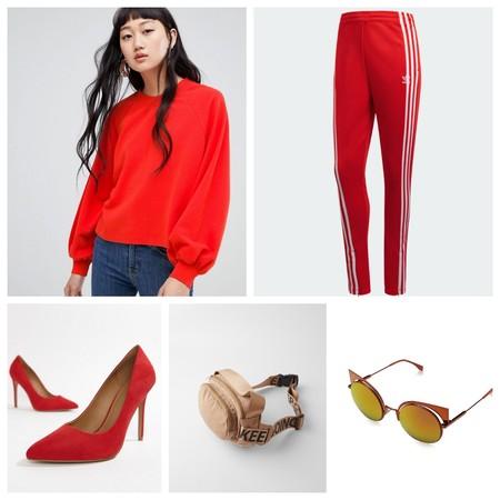 Look En Rojo Bella Hadid