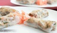 Rollitos de papel de arroz rellenos de solomillo ibérico. Receta