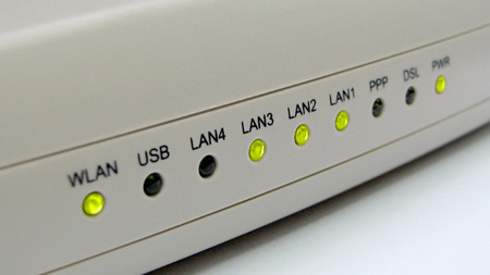 velocidad internet - router