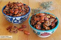 Receta de frutos secos especiados al horno