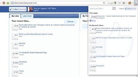 "Accede a todo lo que has compartido por Facebook con ""Me gusta"" desde Firefox y Chrome"