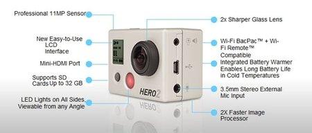 Caracteristicas Hero2 GoPro