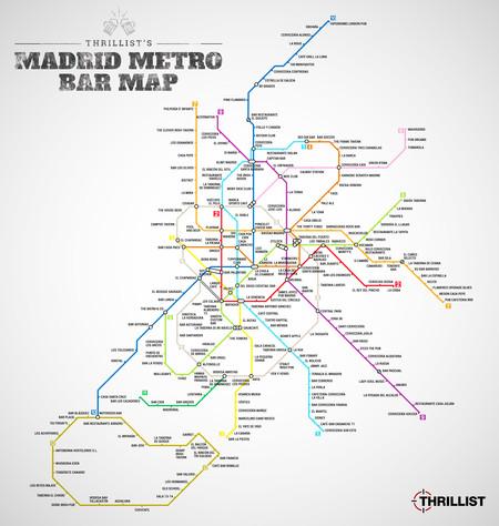 Mapa de metro de bares