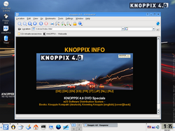 Knoppix 4.0  DVDLive