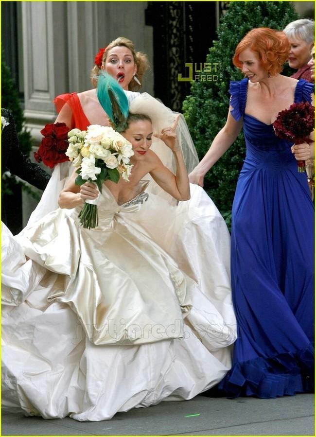 foto de sarah jessica parker vestida de novia (1/8)