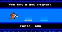 Mega Man se hace con la portal gun y se vuelve imparable