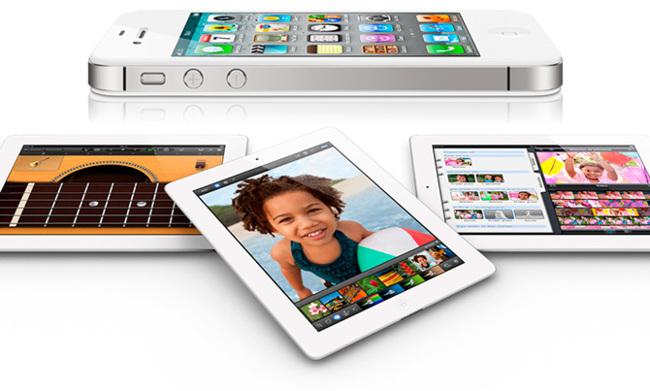 iPhone y iPad blancos
