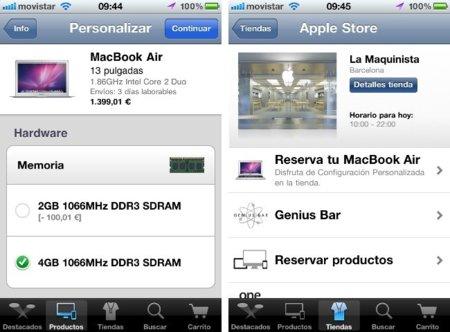 La aplicación oficial para iOS de las Apple Store llega a España