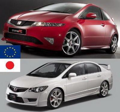 Honda Civic Type-R contra Honda Civic Type-R: la versión europea contra la japonesa