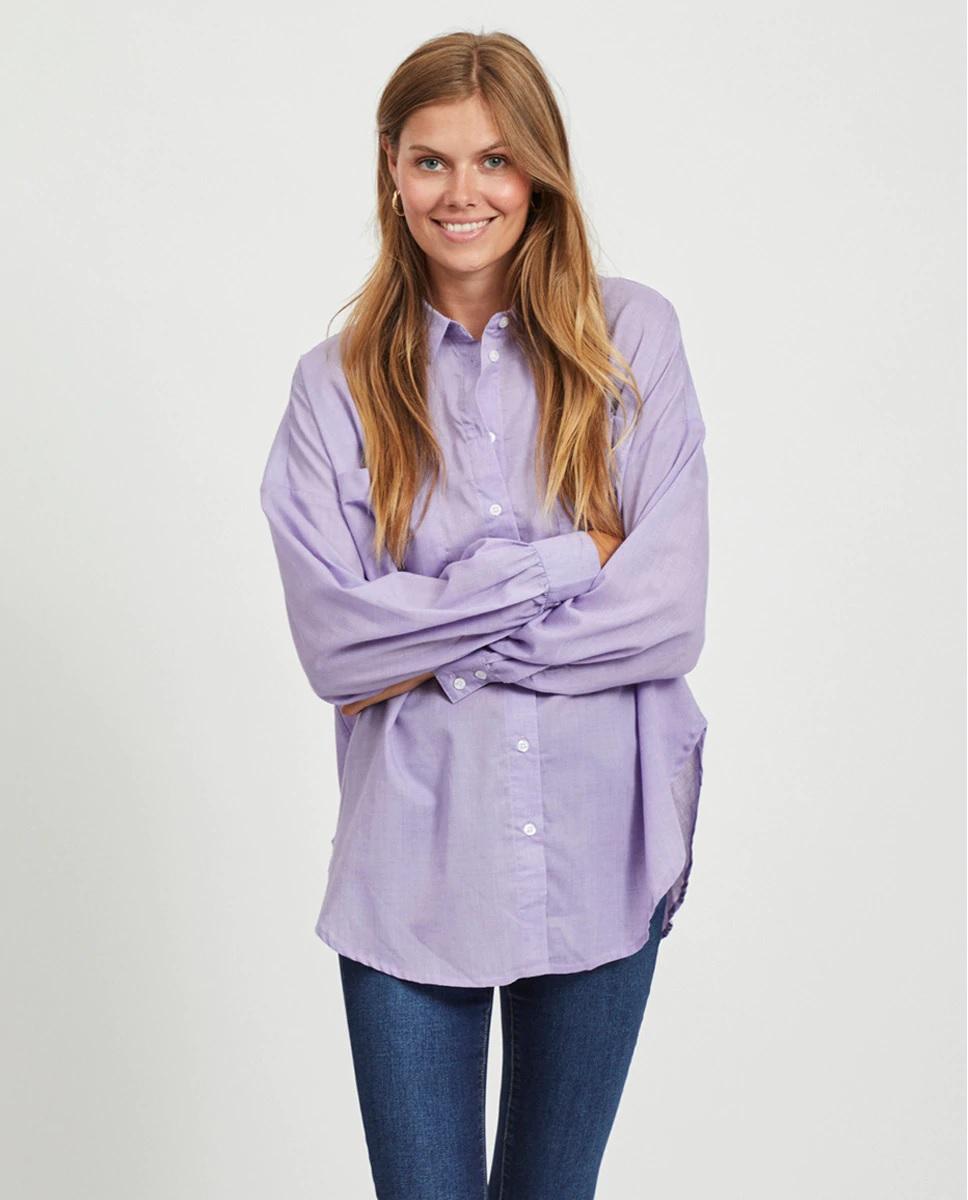 Camisa oversize lila de Vila