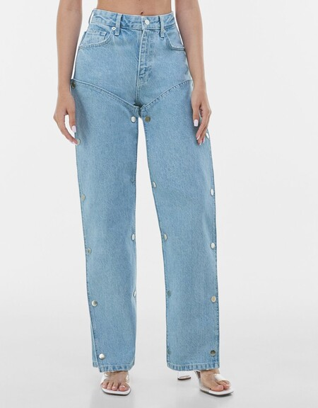 Jeans Straight Snaps