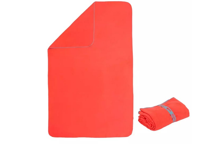 Toalla Microfibra Naranja Talla L 80 x 130 cm