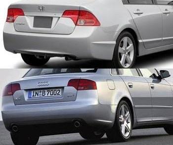 Honda Civic, Audi A4 y ópticas traseras