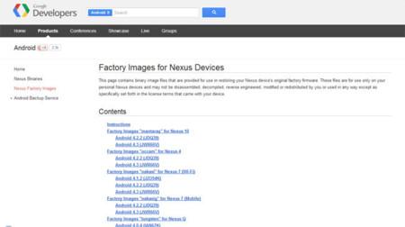 Imágenes de fábrica para los Nexus