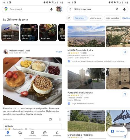 Google Maps Lugares Cercanos
