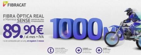 Fibracat lanza la primera conexión española con 1000 Mbps para particulares