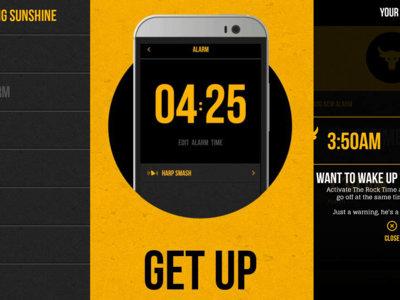 Despiértate con Dwayne Johnson gracias a su aplicación The Rock Clock