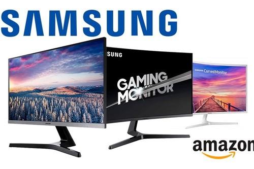 Monitores Samsung en oferta en Amazon: hasta 50 euros de descuento en modelos planos y curvos, para trabajar y jugar