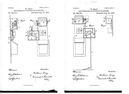 Detalle de una de las patentes de Gray