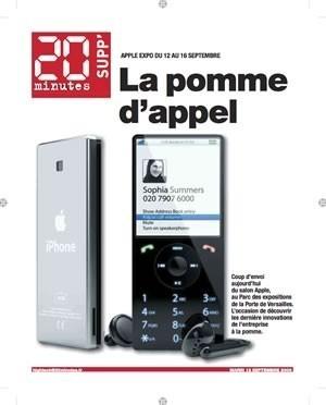 """¿El iPhone, en la edición francesa del periódico """"20 minutos""""?"""