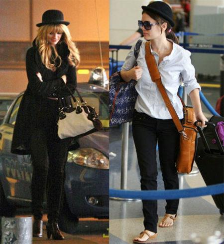 Rachel Bilson usa sombrero y Mischa Barton también