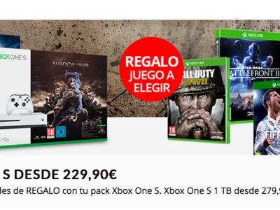 Pack Xbox One S de 500GB + juego extra por 229,90 euros y envío gratis