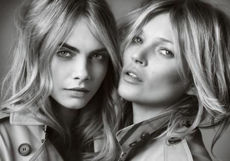 Kate Moss y Cara Delevingne protagonizan el vídeo de la campaña de la fragancia My Burberry
