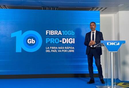 10 Gbps simétricos: Digi adelanta al resto de operadores de internet con la fibra óptica más rápida de España