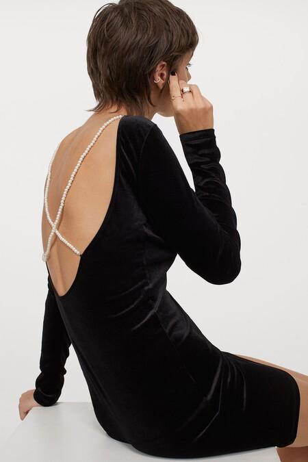 Vestido Navidad 2020 Hm Negro 03