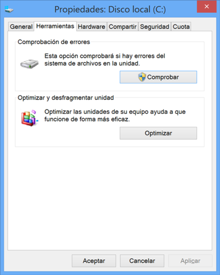 Check Disk Windows 8