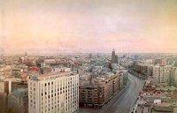 Antonio López pintando cada día en la Puerta del Sol