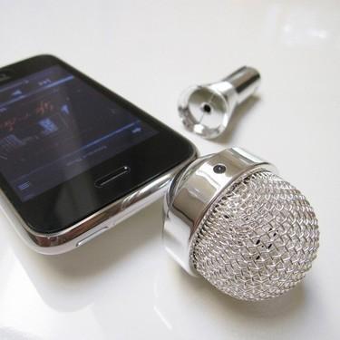 El no va más en accesorios para iPhone es el micrófono retro