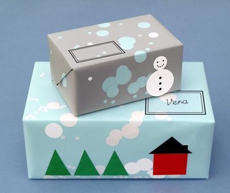 Cómo hacer papel de envolver para regalos de Navidad