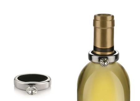 Un anillo de compromiso para el vino