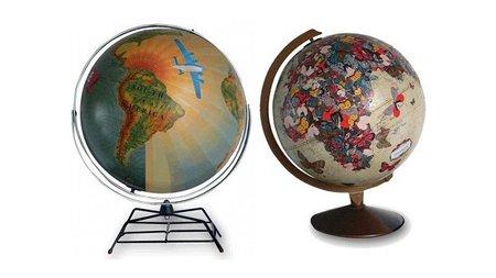 Decoración primavera en la oficina - globos terráqueos