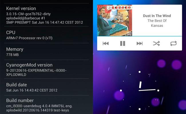 Galaxy S3 CyanogenMod 9