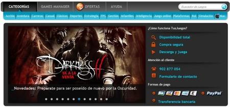 TusJuegos, la primera plataforma española de descarga digital de videojuegos