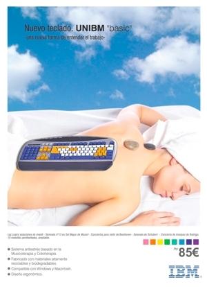 Unibm, periféricos de IBM con colorterapia para cuidar la salud en entornos profesionales (INOCENTADA 28-D)