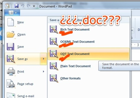 WordPad no lee documentos .doc